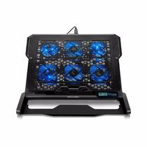 Cooler 6 Fans Led Azul 1500rpm Até 17 Pol. Multilaser Ac282