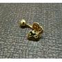 Piercing Em Ouro 18k De Umbigo Borboleta Com Zirconia!