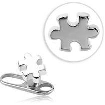 Piercing Topo Para Microdermal Em Aço Cirúrgico 316l Forma