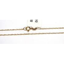 Joalheriavip 40 Cm Corrente Singapura De Ouro Amarelo 18k