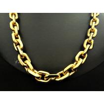 Corrente 60cm Cartier Grossa Banhada Ouro - Frete Grátis