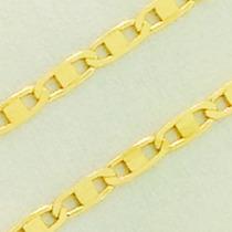 Corrente Ouro 18k Masculina Cordão Piastrine 60cm Ft Gratis