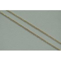 Frete Grátis! Cordão Feminino Singapura Dupla 60cm, Ouro 18k