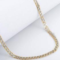 Corrente / Cordão Masculino Banhado A Prata E Ouro - 76cm