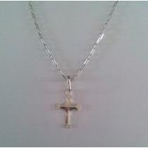 Corrente Cordão Cartier 60cm + Pingente Crucifixo Prata 925