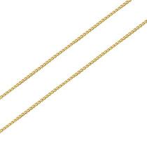 Joalheriavip Corrente 40cm Veneziana Prata 925 Folheada Ouro