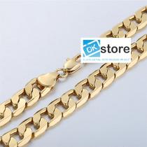 Corrente Cordão Banhada Ouro 18k Grossa 10mm 61cm