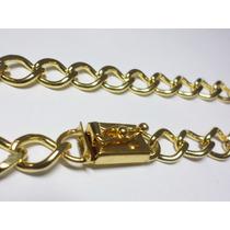 Cordão/corrente 10mm - Banhado A Ouro - Fecho De Gaveta