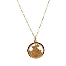 Corrente Cartier Ouro 18k 60cm + Pingente São Jorge Ouro 18k