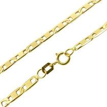 Corrente Cordão Piastrine 45cm Em Ouro 18k