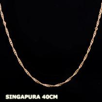 Singapura - Corrente Em Ouro 18k - 750 - 1,90gr - 40cm