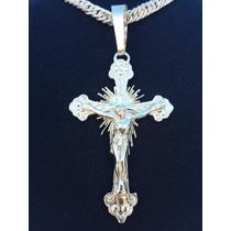 Pingente Prata 950k Gg Crucifixo Frete 10,00 P/ Todo Brasil