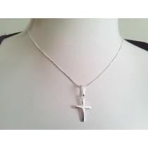 Prata925 Corrente 40cm + Crucifixo 1,5cm + Estojo
