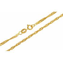 Leão Jóias Corrente Singapura Em Ouro 18k 4mm 40cm