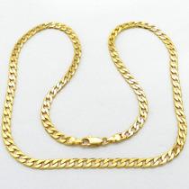 Corrente Masculina 60cm 5mm Largura Folheado Ouro Cr511