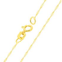 Corrente Cordão Colar De Ouro 18k Feminina Singapura 45cm