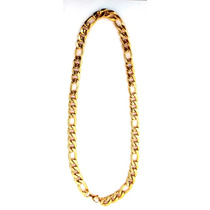 Cordão Masculino Cor Ouro 18 K Aço Inoxidável Alto Brilho