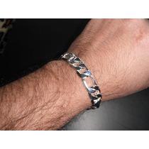 Pulseira (bracelete) Masculina Prateada