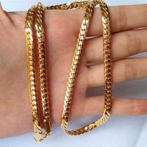 Colar Cordão Corrente Gargantilha Banhado A Ouro Amarelo 18k