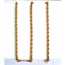 Cordão Corrente Masculino Aço Inox Cor Ouro Frete Gratis