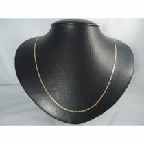 Corrente Piastrine Maciça 50cm Em Ouro 18k-750 Frete-grátis