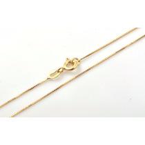 Cordão Corrente Veneziana 60cm Em Ouro 18k Frete-grátis