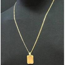 Corrente Masculina 70cm Frete Gratis Folheada Ouro Cr431