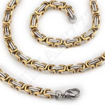 Corrente/cordão Masculino Aço Inox 316l Prata/ Ouro 8mm 65cm