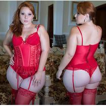 Espartilho Sexy Plus Size Completo, Tam. 48 Ao 54, Promoção!