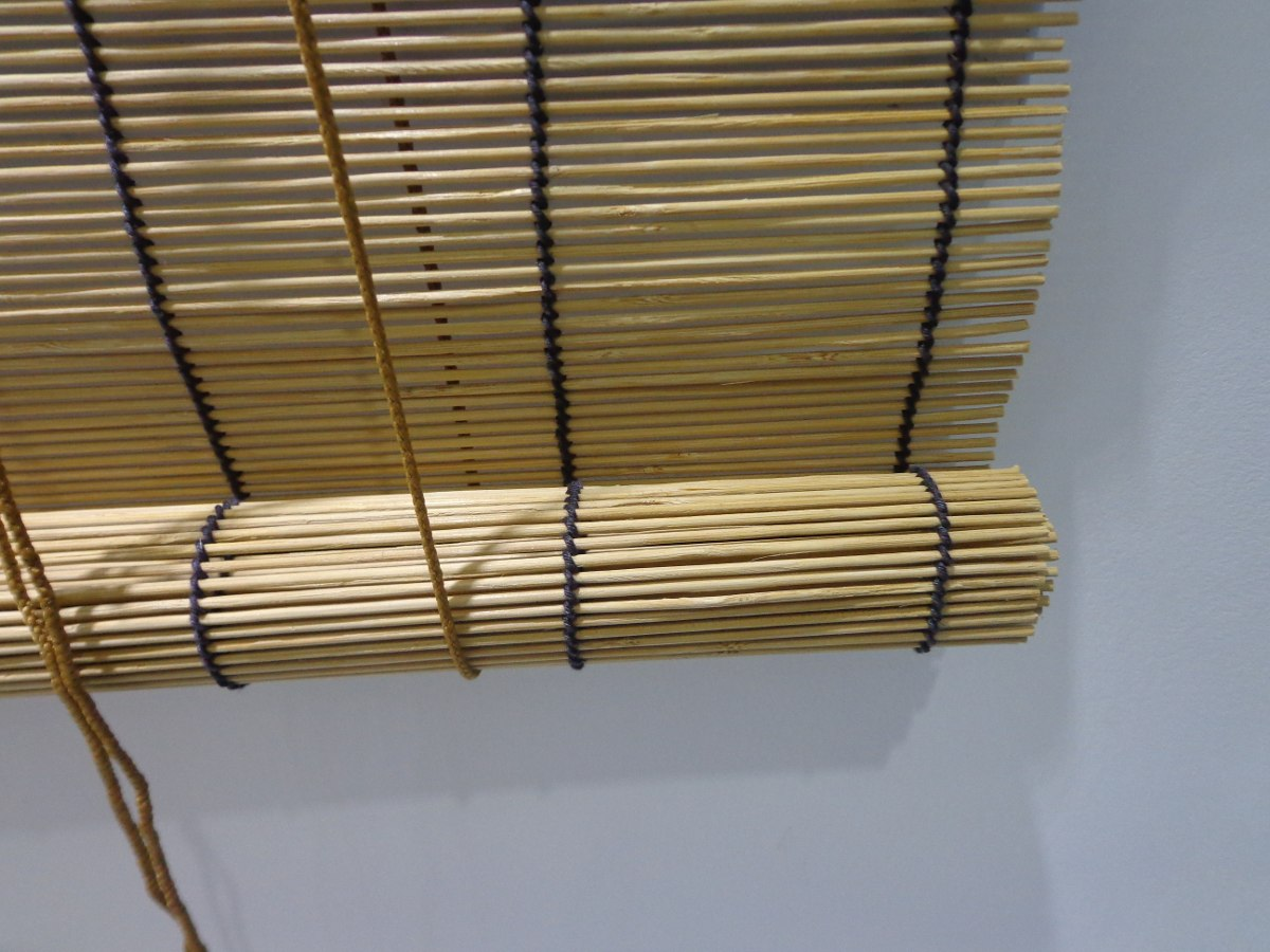 Cortina persiana bamboo roller up 1 40 x 1 60 cm cafe - Persianas de bambu ...