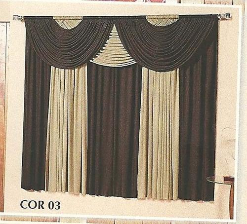 Cortina Riviera 3,00m X 2,80m -sala Decoração Tibor Enxovais