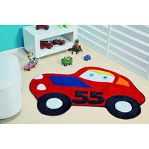 Tapete P/ Quarto De Menino Carro 55 Vermelho 1,30m X 1,18m