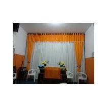 Cort/ De Igreja Cida Chagas 6,00x4,00 Voal Com Forro Cetim