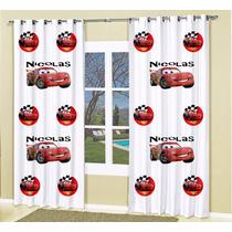 Cortina Infantil Carros Mcqueen Personalizada 2,50 X 2,00