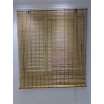 Cortina Persiana Bamboo Roller Up 1,20 X 1,60 Cm Cafe Bambu
