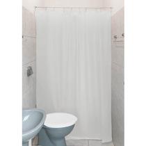 Cortina P/ Banheiro Boxclean 1,4m Pvc-kit Instalação Branco