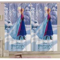 Cortina Infantil P/ Varão Frozen Estampada 2pç Lepper