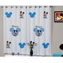 Cortina Infantil Mickey Disney 2,20 X 1,40 Personalizada