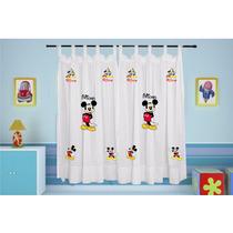 Cortina Infantil Mickey Personalizada Com Nome