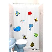 Cortina Para Banheiro Box Estampada Varias Cores Banheiro