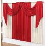 Cortina P/ Sala Decor Vermelho Palha 3mx2,8m P/varão Simples