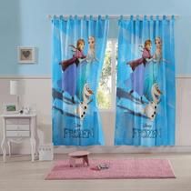 Cortina Infantil Frozen Lepper Para Varão 2pç Quarto Menina