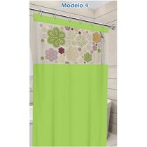 Cortina Para Box 1,40m X 2,00m Tecido Pvc - Estampada Clean