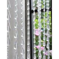 Cortina De Miçanga Acrilica Modelo Bola Cristal Transparente