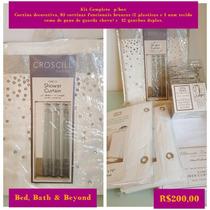 Bed Bath & Beyond - Cortina Para Box Em Tecido Trabalhado