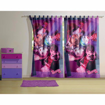 Cortina Estampada Monster High 1,50x2,20m 2 Partes Lepper