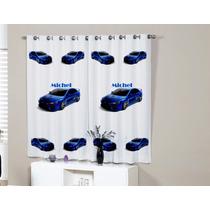 Cortina Carros Drift Infantil Personalizada Com Nome