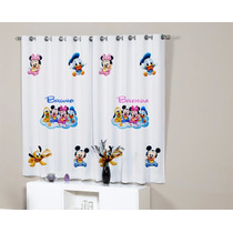 Cortina Infantil Mickey Pluto Pato Donald Minnie Baby C Nome