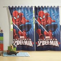 Cortina Infantil P/ Varão Homem Aranha Spider Man 2pç Lepper