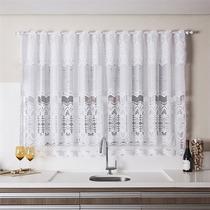 Cortina Cozinha Interlar 210x150 Cm Renda Arabesco Branca